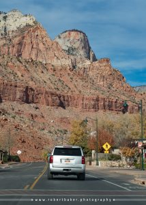 Minimal traffic backed up on Tuesday driving into Zion.