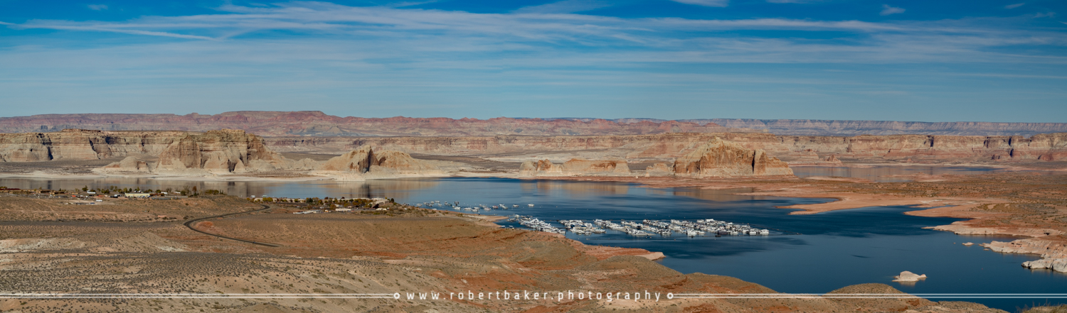 Wahweap Marina via Lake Powell Overlook