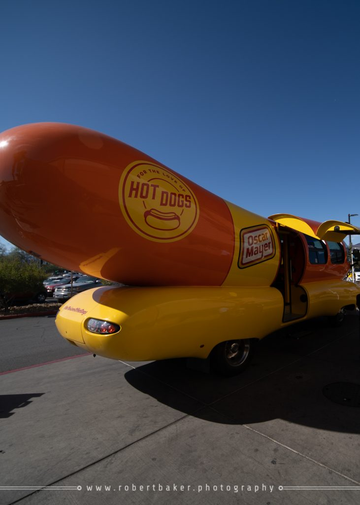 Rear view of the Oscar Mayer Weinermobile