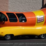 Side view of the Oscar Mayer Weinermobile